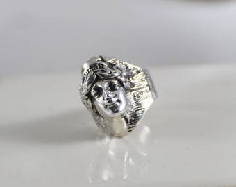 Sterling Silver Liberty Head Ring