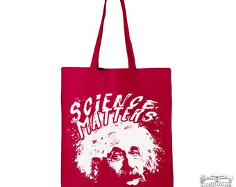 SCIENCE MATTERS - Eco-Friendly Market Tote Bag - Hand Screen printed (Ships FREE!)