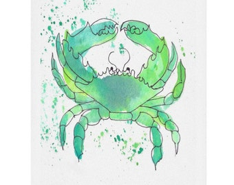Seafoam Green Watercolor Print