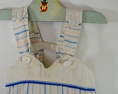 last chance Vintage Infant Baby ROMPER unisex 1940's 1950's usa handmade farm fresh!