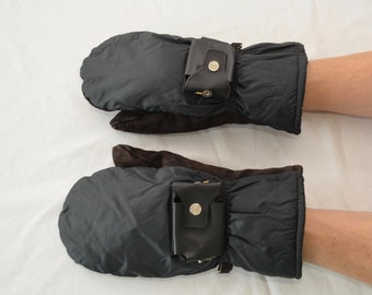 Vintage ELECTRIC SNOWMOBILE MITTENS gloves lined