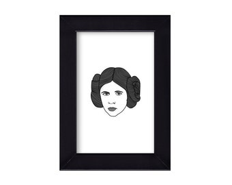 4 x 6 Princess Leia / Star Wars Portrait