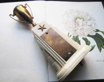Vintage Trophy Award  * 1940's * Dodge Inc * Hollywood Home Decor * Unique Gifts * Brass Metal Bakelite * Special Presentation * Award *