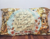 Custom order // hand stitched, vintage floral pillowcase