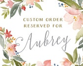 Reserved for Aubrey - Custom Woodland Pines Watercolor Wedding Invitations