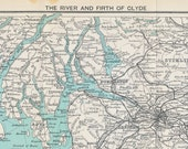 Antique Map of the River and Firth of Clyde, Scotland