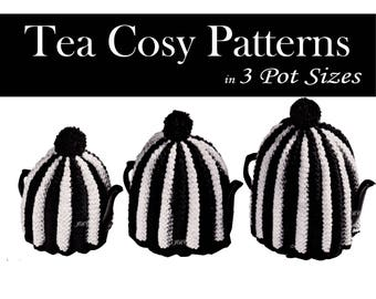 Tea Cozy Knitting Pattern Tea Cosy Knitting Pattern 3 Teapot Cozy Patterns  PDF T111