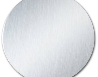 """5 - 3"""" Ornament Disc Blank with 22 Gauge Shiny Anodized Aluminum with PVC Protective Film"""