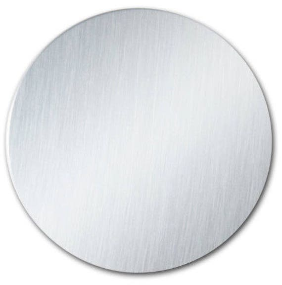 """5 Blanks - 3"""" Ornament Disc Blank with 22 Gauge Shiny Anodized Aluminum with PVC Protective Film"""