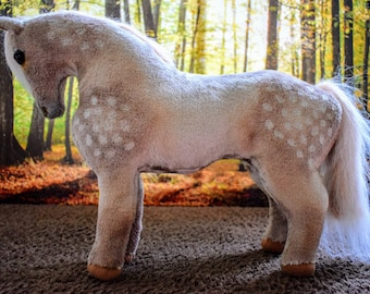 OOAK handmade soft toy horse 'Milly'