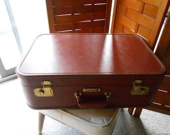 Vintage J C Higgins  Brown Suitcase