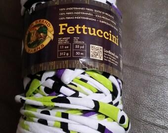 Lion Brand Fetticcini Yarn - super bulky Repurposed fabric yarn