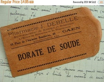 ONSALE Stunning Antique French Ephemera Small Gummed Medical Envelope 100 Years old