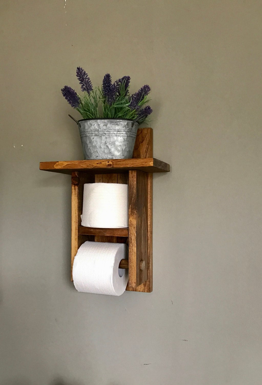 Toilet paper holder bathroom decor toilet paper storage Wood toilet paper holders