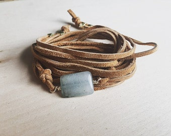 Leather wrap bracelet, beaded wrap bracelets, boho wrap bracelet