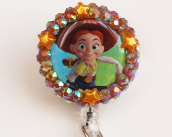 Toy Story's Jessie The Cowgirl ID Badge Reel - Retractable ID Badge Holder - Zipperedheart