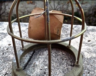 Industrial Brass Lamp Guard Cage