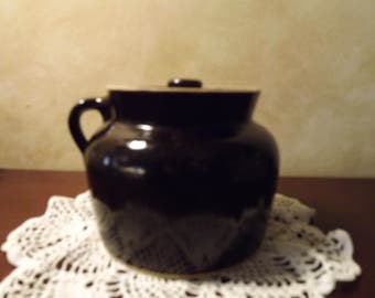 Stoneware Crock Bean Pot