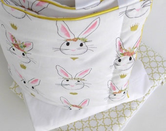 Stokke Sleepi Bumper // Pink & Gold // Bunnies // Immidiate Ready To Ship