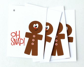 Christmas Gift Tags, Gingerbread Man Tags, Funny Holiday Favour Tag, Xmas Tags for Christmas Party, Funny Christmas Labels, Cute holiday tag