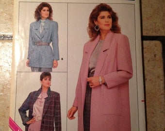 Butterick 5759 Size 18, 20, 22 Misses Jacket Pattern UNCUT