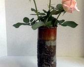 handmade Pottery Vase, Forest theme, OOAK
