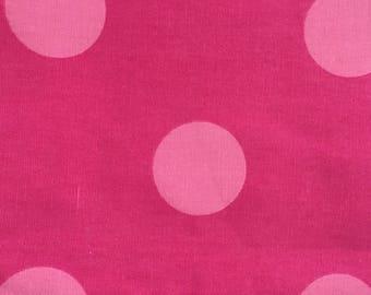 Giant Pink Polka Dot Upholstery Fabric
