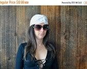 50% OFF White Turban Hat / head scarf / hippie