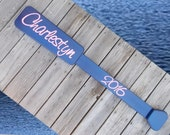 Decorative Oar - Personalized Family  Name or Address Sign . . . .  on an Oar - Hand routed, and Carved.