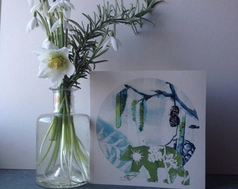 The Colour of Spring, a Greetings Card for Spring, New Beginnings and the end of Hibernation