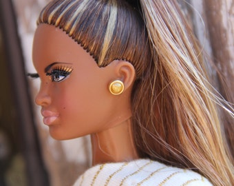 1 pair Pearl Stud Earrings for all size Fashion Dolls  9 different Colors Doll Earrings