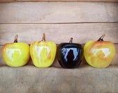 Blown Glass Apples, Set o...