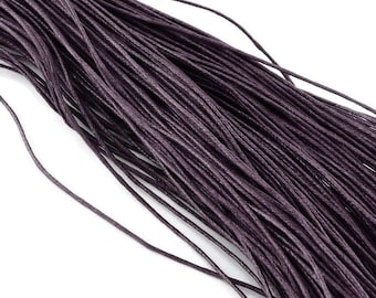 1mm waxed cotton cord  - Dark Plum 10 meters / 32.8 ft  (C16B)
