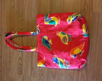 Tote Bag Purse Quilted Handmade -- 015