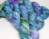 Big Rad Bulky - Hand Dyed Speckled Yarn - SW Merino/Nylon - 75 Yards - Motion in the Ocean