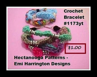 CROCHET PATTERN - crochet jewelry, crochet bracelet, crochet necklace, #1173yt. fiber arts, quick and easy diy crochet accessories