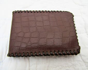 Vintage Leather Wallet Brown