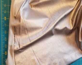Warm Taupe-ish champagne Gold Soft Skin Faux Leather sold by 1/4yd