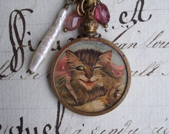 Ruby Goes to Paris - Vintage Assemblage Charm Necklace