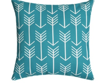 blue arrow stuffed throw pillow apache blue throw pillow blue arrow tribal decor