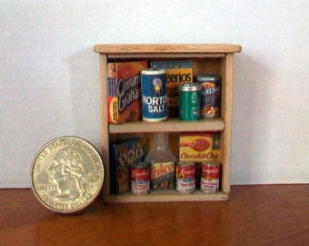 Miniature Food Shelf  1:12 scale