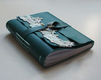 Teal Faux Leather Journal - Blank Notebook - Diary - Christmas Gift - Stocking Stuffer