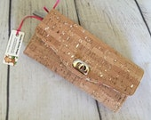 Necesary Clutch Wallet, Natural Cork Wallet, Accordian Wallet