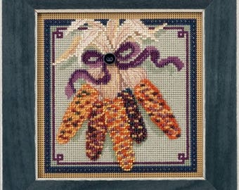 Mill Hill Buttons & Beads Autumn Series, Country Mill MH14-5205, Beaded Counted Cross Stitch Kit