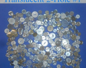 Button Mania #2 - Translucent White with 2- or 4-Threading Holes.