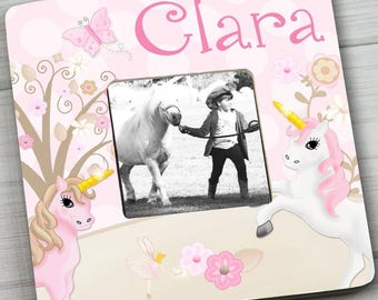 Pink Unicorn Girls Bedroom Photo PICTURE FRAME for Kids Bedroom Baby Nursery Pf0098