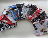 Disney Ouch Pouch (10) Small Clear Diaper Bag Purse Organizers Children Fish Extender Cruise Gift Christmas Stocking Stuffers Under 6 (4x5)