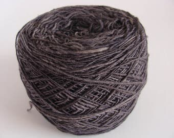 Hand Spun 1 ply  Wool Yarn - Gray to Black  - Downsizing SALE  Must Go!