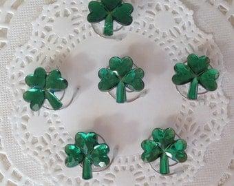 Green Shamrock Hair Swirls Hair Spins Spirals Irish Wedding Twists or Coils Irish Dancers Hair Accessory Hair Jewels