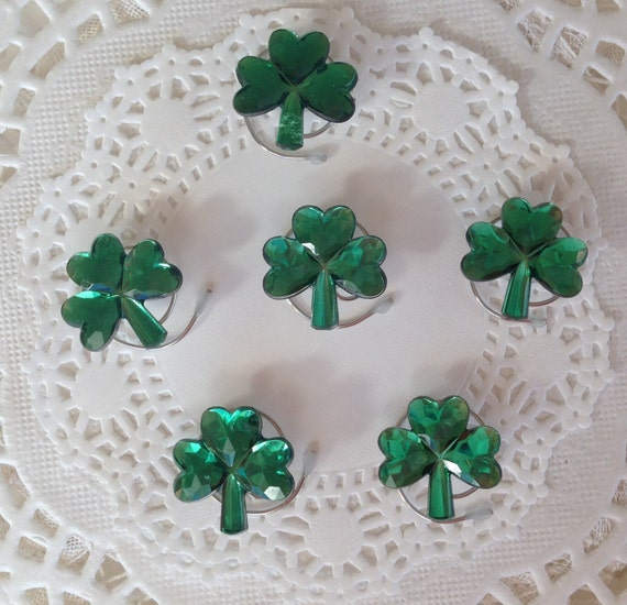 Green Shamrock Hair Swirls Hair Spins Spirals Irish Wedding Twists or Coils Irish Dancers Hair Accessory Hair Jewels